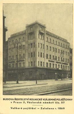 2cd80c69b9 pohlednice Praha – Rolnická vzájemná pojišťovna Praha   cca 1930