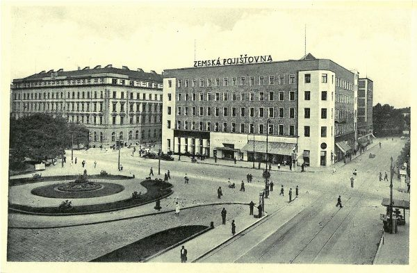 a2794b13ae Pohlednice Brno – Zemská pojišťovna v Brně   cca 1930