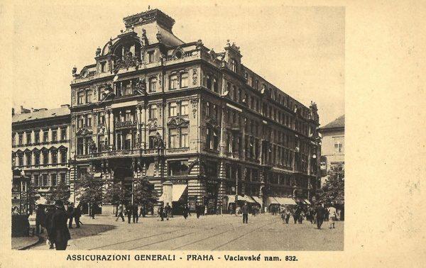 6fc368590a Pohlednice Praha – Assicurazioni Generali v Terstu   cca 1905