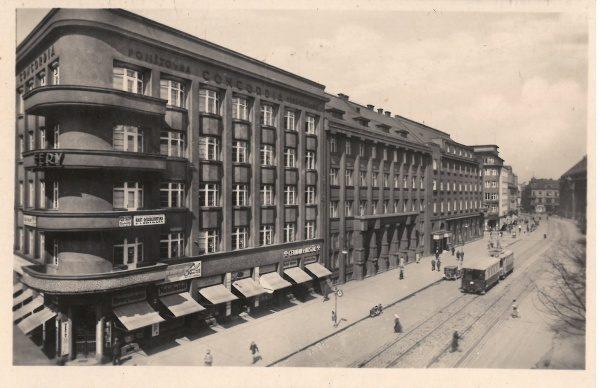 af35bf09d1 Pohlednice Ostrava – Concordia pojišťovna   1945
